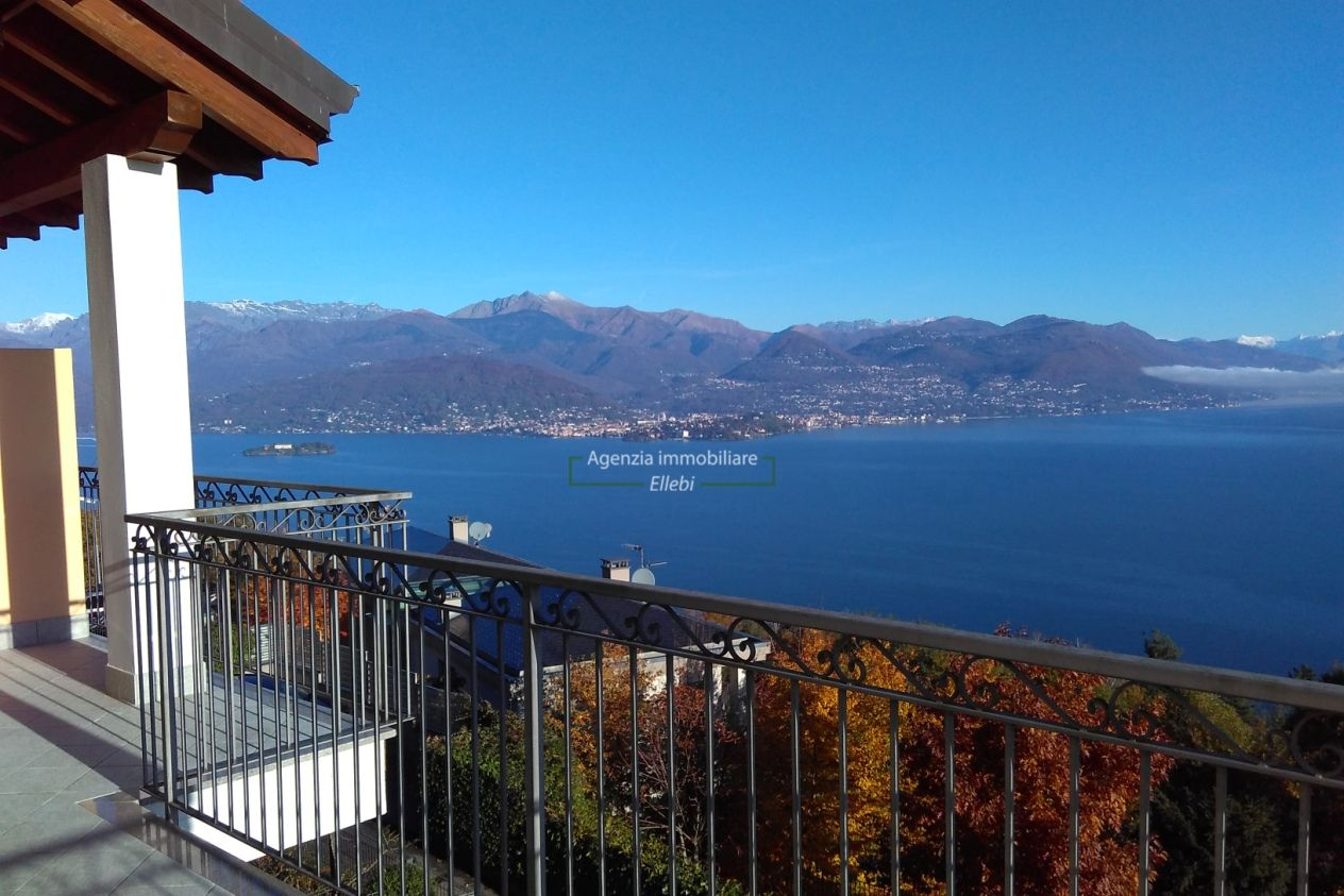 vista appartamento nuovo classe b vendita Brisino vista lago stresa agenzia immobiliare ellebi