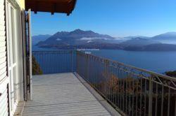 terrazzo appartamento nuovo classe b vendita Brisino vista lago stresa agenzia immobiliare ellebi