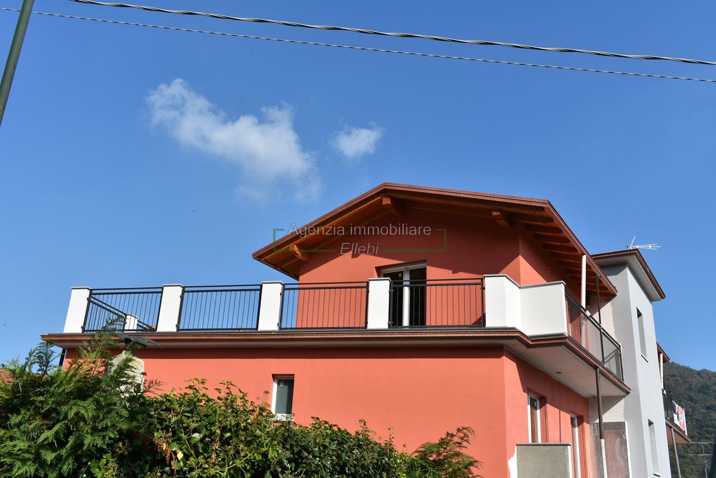esterno Attico di nuova costruzione in vendita Graglia Alto vergante agenzia immobiliare ellebi